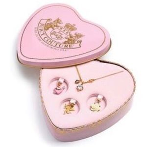Juicy Couture Valentine's Day Charm Necklace LNWOT